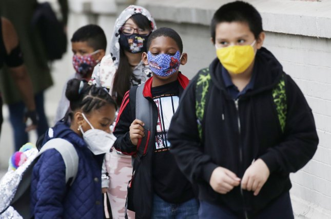 The Education Department on Monday announced it has launched investigations into policies banning mask mandates in schools in Iowa, Oklahoma, South Carolina, Tennesse and Utah.File Photo by John Angelillo/UPI