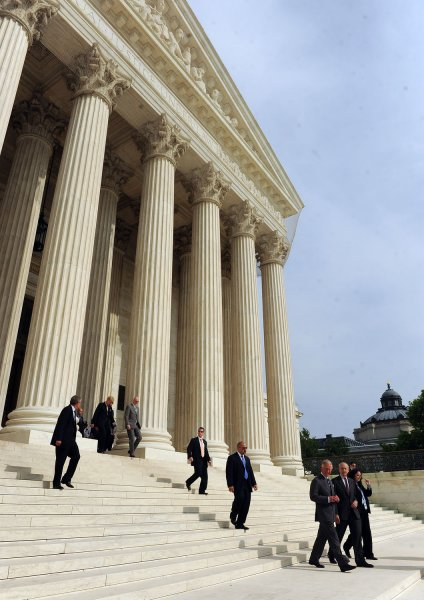 The Supreme Court, as seen in a file photo. The court ruled against other courts having the ability to act on emissions. UPI/Roger L. Wollenberg