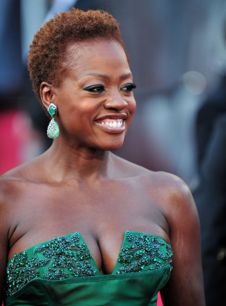 Viola Davis arrives on the red carpet at the 84th Academy Awards at the Hollywood and Highlands Center in the Hollywood section of Los Angeles on February 26, 2012. UPI/Kevin Dietsch