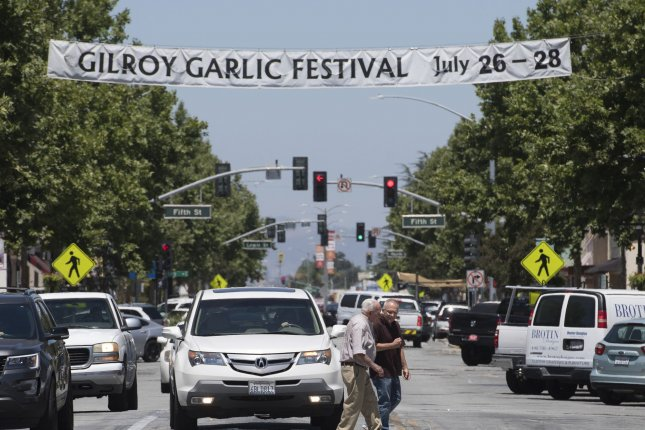 Authorities searched the apartment of the gunman who killed three people and injured a dozen more in a shooting rampage in Gilroy, Calif. Sunday. Photo by Terry Schmitt/UPI