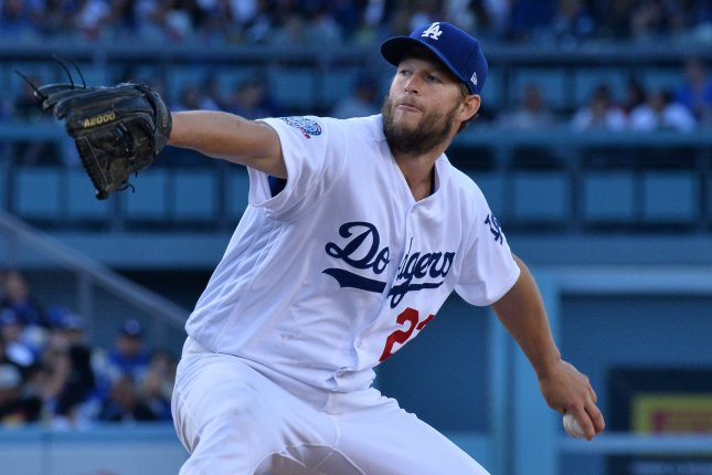 Los Angeles Dodgers' starting pitcher Clayton Kershaw. Photo by Jim Ruymen