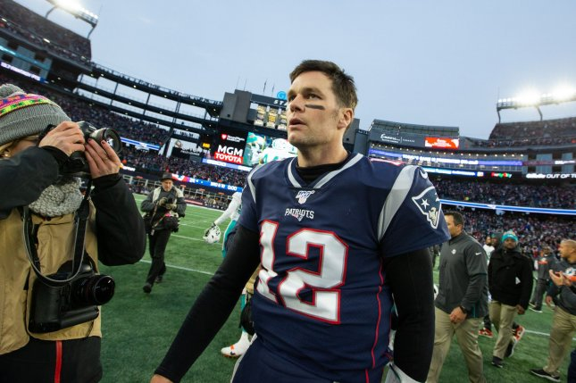 Tom Brady (12) and the New England Patriots host the Tennessee Titans in the AFC Wild Card round at 8:15 p.m. EST Saturday at Gillette Stadium in Foxborough, Mass. Photo by Matthew Healey/UPI