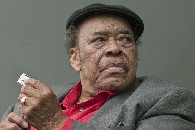James Cotton performs on the main stage during the three day 2011 Vancouver Folk Music Festival on July 16, 2011. Cotton has died at the age of 81 from pneumonia. File Photo by Heinz Ruckemann/UPI