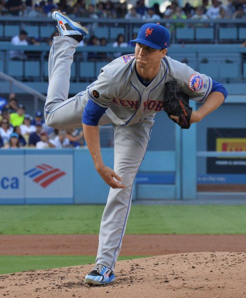 5c71887defee6 Jacob deGrom and the New York Mets take on the Boston Red Sox on Sunday.  Photo by Jim Ruymen UPI