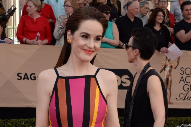 Michelle Dockery arrives for the the 23rd annual SAG Awards held at the Shrine Auditorium in Los Angeles on January 29, 2017. The actor turns 38 on December 15. File Photo by Jim Ruymen/UPI