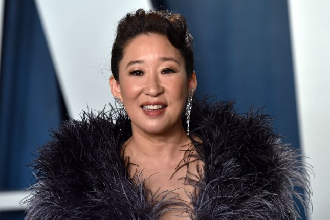 Sandra Oh arrives for the Vanity Fair Oscar party at the Wallis Annenberg Center for the Performing Arts in Beverly Hills, Calif., on February 9, 2020. The actor turns 50 on July 20. File Photo by Chris Chew/UPI
