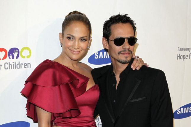 Jennifer Lopez (L) and Marc Anthony at the Samsung Hope for Children gala on June 7, 2011. File Photo by John Angelillo/UPI