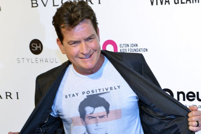 Charlie Sheen arrives at the Elton John Aids Foundation's 24th Annual Academy Awards viewing party in West Hollywood on February 28, 2016. His new movie Mad Families is to debut on Crackle Thursday. File Photo by Christine Chew/UPI