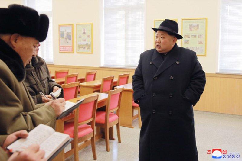 North Korean leader Kim Jong Un in Samjiyon County in 2017. File Photo by KCNA/UPI