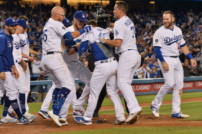 The Los Angeles Dodgers (58-29) own the best record in Major League Baseball and lead the National League West by 13 games. Photo by Jim Ruymen/UPI