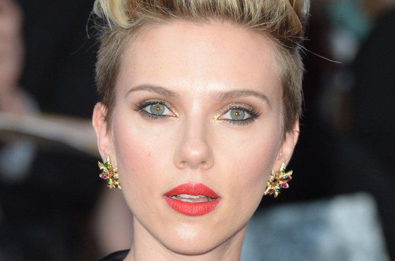 Scarlett Johansson got a scare from 'Avengers: Age of Ultron' co-star Chris Evans on 'The Ellen DeGeneres Show.' File photo by Rune Hellestad/UPI