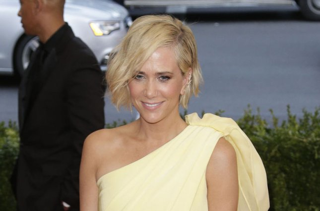 Kristen Wiig at the Costume Institute Benefit at the Metropolitan Museum of Art on May 4. The actress and her 'Ghostbusters' co-stars paid a surprise visit to Tufts Medical Center on Saturday. File photo by John Angelillo/UPI