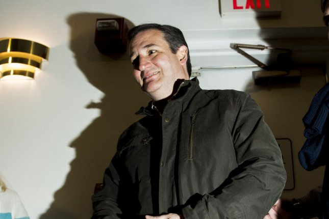 Ted Cruz enters a packed audience town hall meeting in Manchester, New Hampshire on February 8, 2016. PPP released a poll showing that 38 percent of Florida voters believe Ted Cruz could be the Zodiac Killer. Photo by Ryan McBride/UPI