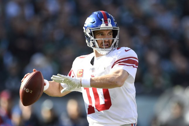 New York Giants quarterback Eli Manning throws the ball during the first half against the Philadelphia Eagles on November 25, 2018 at Lincoln Financial Field in Philadelphia. Photo by Derik Hamilton/UPI