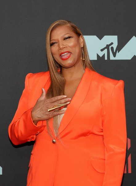 Queen Latifah arrives on the red carpet at the 36th annual MTV Video Music Awards at the Prudential Center in Newark, N.J., on August 26. The singer/actor turns 50 on March 18. File Photo by John Angelillo/UPI