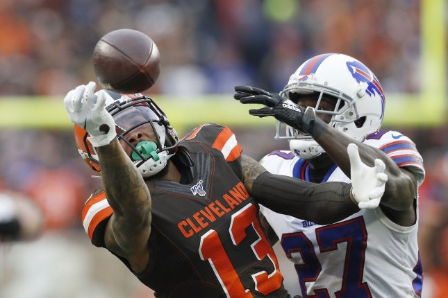 The Browns said they aren't trying to trade Odell Beckham Jr. (L) because he is part of their core group. File Photo by Aaron Josefczyk/UPI