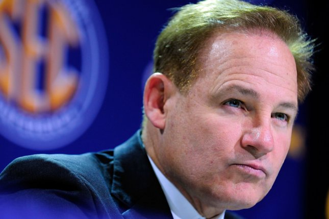 Kansas Jayhawks football coach Les Miles has a 3-18 record in his first two seasons with the Jayhawks. File Photo by David Tulis/UPI
