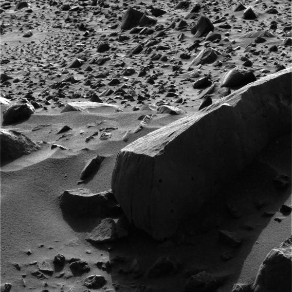 The rock surface of Mars is seen in this March 2004 NASA image recorded by the Mars Exploration Rover - Spirit. (UPI Photo/NASA)