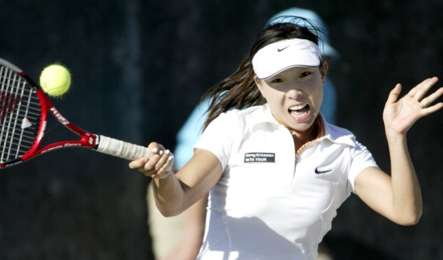 Jie Zheng, shown in a 2007 file photo, upset world No. 1 Ana Ivanovic in straight set during third-round play Friday at Wimbledon. (UPI Photo/Nell Redmond)