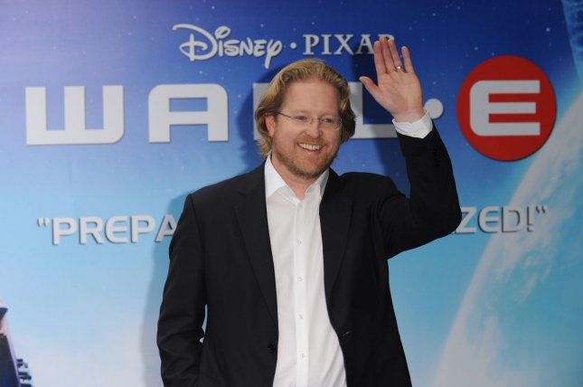 American voice actor/director Andrew Stanton attends the premiere of Wall-E at Empire, Leicester Square in London on July 13, 2008. (UPI Photo/Rune Hellestad)