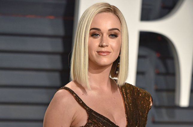 Katy Perry attends the Vanity Fair Oscar party on Sunday. File Photo by Christine Chew/UPI