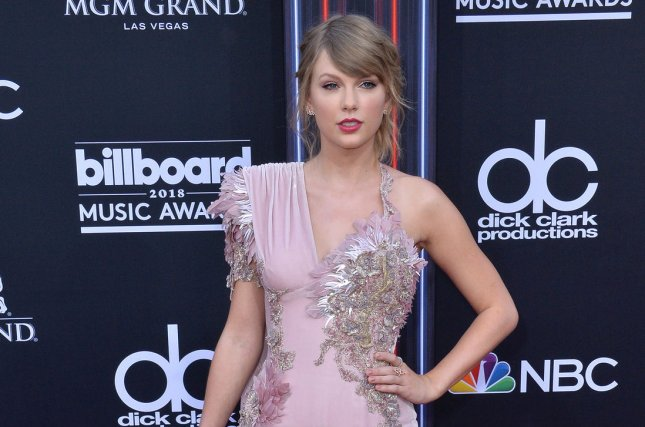 Taylor Swift, shown here at the Billboard Music Awards on May 20, spoke about LGBT Pride Month at her Chicago concert on Saturday night. Photo by Jim Ruymen/UPI