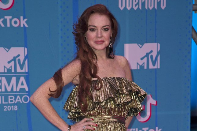 y Lohan responded to the video of her dancing in Mykonos that sparked memes and a dance challenge online. File Photo by Sven Hoogerhuis/UPI