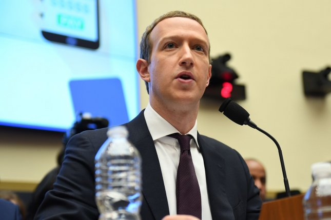 CEO Mark Zuckerberg said Monday Facebook will ban content that denies or distorts the Holocaust. File Photo by Pat Benic/UPI