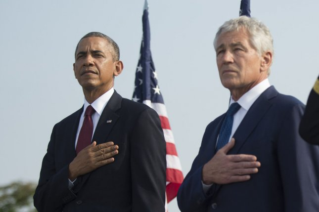 President Barack Obama and Defense Secretary Chuck Hagel. UPI/Kevin Dietsch