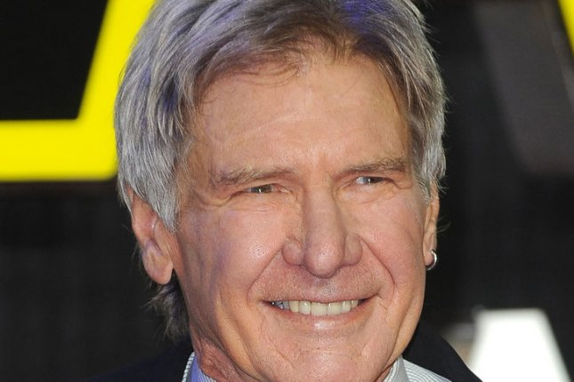"American actor Harrison Ford attends the European premiere of ""Star Wars: The Force Awakens"" in London on December 16, 2015. File photo by Paul Treadway/ UPI"