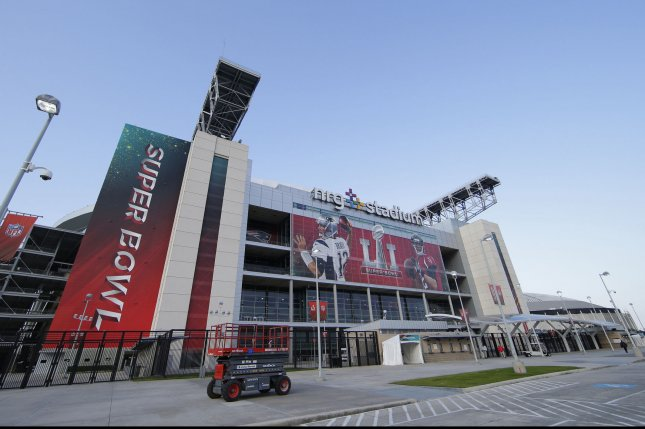 Preparations for Super Bowl LI continue to take place at NRG Stadium in Houston, Texas on February 3, 2017. The New England Patriots will play the Atlanta Falcons in Super Bowl LI on Sunday at NRG Stadium. Photo by John Angelillo/UPI