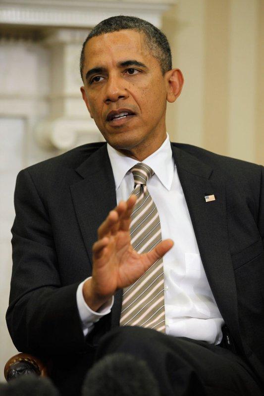 President Barack Obama speaks to the news media at the White House Jan. 17, 2012.UPI/Chip Somodevilla/Pool