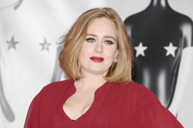 Adele attends the Brit Awards at O2 Arena in London on February 24, 2016. The recording artist is to perform at next month's Grammy Awards ceremony. File Photo by Rune Hellestad/UPI