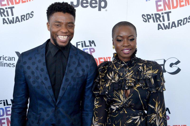Black Panther stars Chadwick Boseman (L) and Danai Gurira. The Marvel film has received seven MTV Movie & TV Award nominations. File Photo by Jim Ruymen/UPI