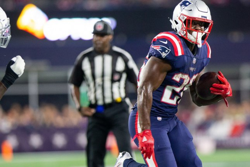 New England Patriots running back Sony Michel (26). Photo by Matthew Healey/UPI