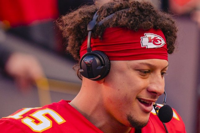 Kansas City Chiefs quarterback Patrick Mahomes was forced out of Sunday's game against the Cleveland Browns after he sustained a concussion in the third quarter of the victory. File Photo by Kyle Rivas/UPI