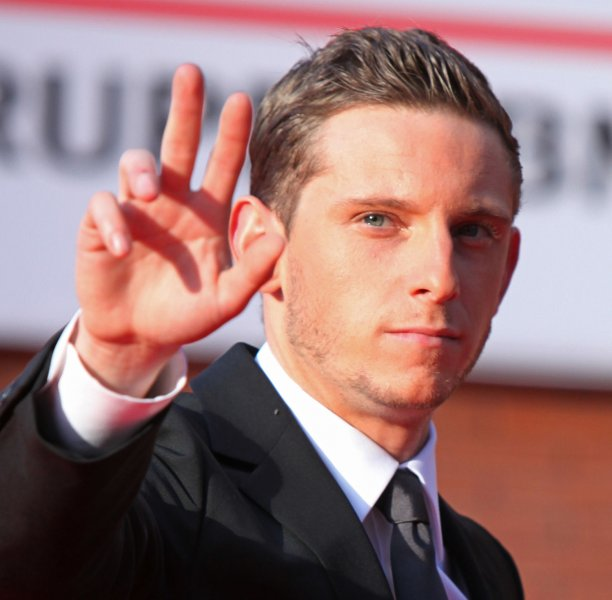 Jamie Bell arrives on the red carpet before a screening of the film The Adventures of Tintin: The Secret of the Unicorn during the 6th Rome International Film Festival in Rome on October 28, 2011. UPI/David Silpa
