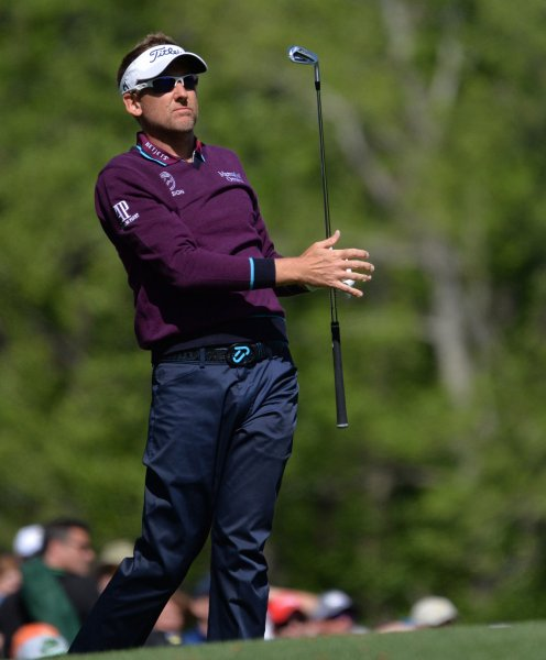 Ian Poulter of England at the 2016 Masters Tournament at Augusta National in Augusta, Ga., on April 7. File photo by Kevin Dietsch/UPI