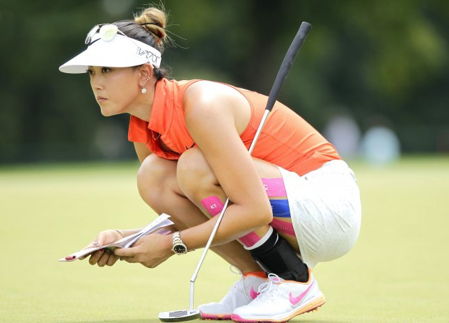 Michelle Wie put herself in strong contention for the weekend at the Bank of Hope Founders Cup with her second straight outstanding round. She shot 67 on Friday and is 12-under-par 132, one shot behind the leaders, heading into the weekend. File Photo by John Angelillo/UPI