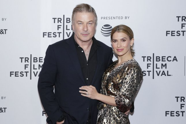 Hilaria Baldwin (R), pictured with Alec Baldwin, said she connected with Kimberly Van Der Beek after they both experienced miscarriages this month. File Photo by John Angelillo/UPI