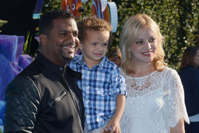 Actor Alfonso Ribeiro, son Alfonso Ribeiro Jr. and wife Angela Unkrich attend the premiere of Finding Dory at the El Capitan Theatre in the Hollywood section of Los Angeles on June 8, 2016. Alfonso Ribeiro turns 50 on September 21. File Photo by Jim Ruymen/UPI