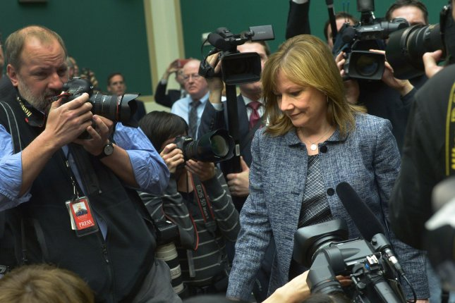 General Motors (GM) CEO Mary Barra arrives for a House Energy and Commerce Committee hearing on the GM ignition switch recall, on Capitol Hill in Washington, D.C. on April 1, 2014. The faulty switch, which can randomly shut off a moving automobile, is linked to the deaths of 13 people and injuries of over 30 more. UPI/Kevin Dietsch