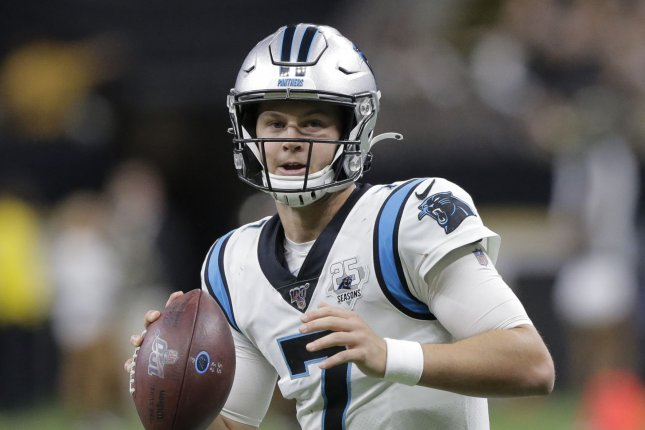 Carolina Panthers quarterback Kyle Allen has accounted for six touchdowns in his last two games. Photo by AJ Sisco/UPI