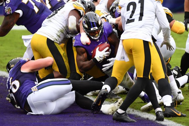 The Pittsburgh Steelers are set to host the Baltimore Ravens at 3:40 p.m. EST on Wednesday at Heinz Field in Pittsburgh. File Photo by Kevin Dietsch/UPI