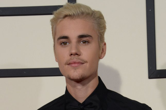 Justin Bieber at the Grammy Awards on February 15. The singer got into an altercation Wednesday in Cleveland. File Photo by Jim Ruymen/UPI