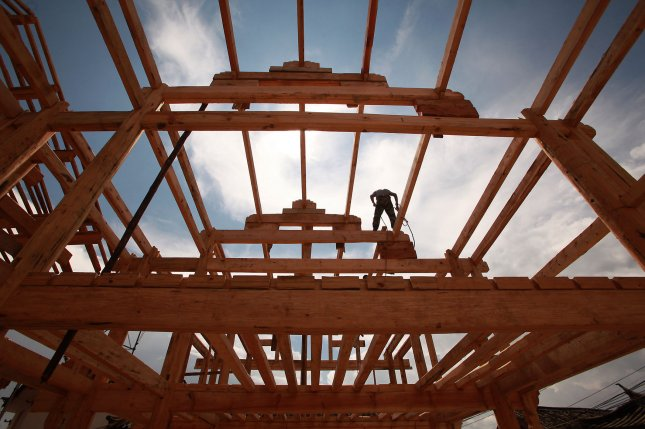 Housing starts rose to their highest level since 2007, the Commerce Department said Wednesday. File Photo by Stephen Shaver/UPI
