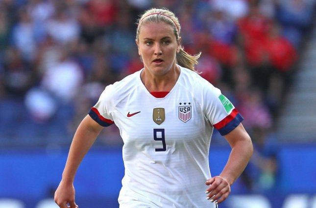 United States Women's National Team player Lindsey Horan helped her National Women's Soccer League team secure a draw Sunday in the NWSL Challenge Cup. File Photo by David Silpa/UPI