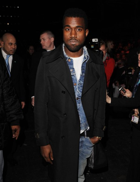 American singer Kanye West attends Vivienne Westwood's Autumn/Winter collection catwalk show at London Fashion Week in London on February 21, 2009. (UPI Photo/Rune Hellestad)