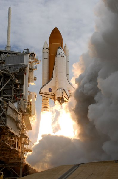 NASA's space shuttle Atlantis launches from Complex 39A at the Kennedy Space Center in Florida July 8, 2011, on its final mission. UPI/Joe Marino-Bill Cantrell