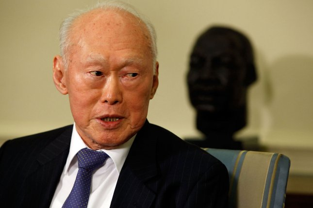 Former Prime Minister Lee Kuan Yew of Singapore in the Oval Office on Oct. 29, 2009. Lee, who served as prime minister of Singapore from 1959 to 1990, died on March 22, 2015 at the age of 91. He is widely credited with fostering Singapore's economy into the powerhouse it is today. File photo by Chip Somodevilla/UPI